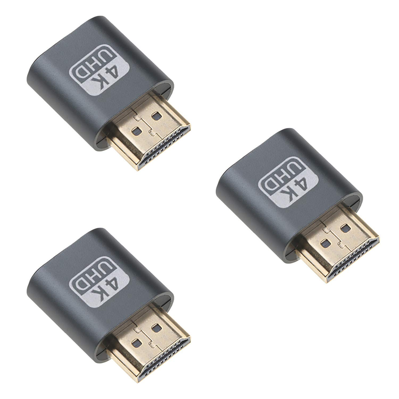 Welight Adaptador HDMI Dummy 4K (3 Pack) Simulador de pantalla ...