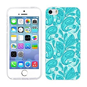 Head Case Designs Whale Turquoise Paisley Animals Soft Gel Back Case Cover for Apple iPhone 5 5s