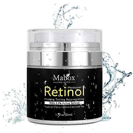 Crema hidratante para rostro con retinol, de Pawaca, fórmula antienvejecimiento que reduce las arrugas