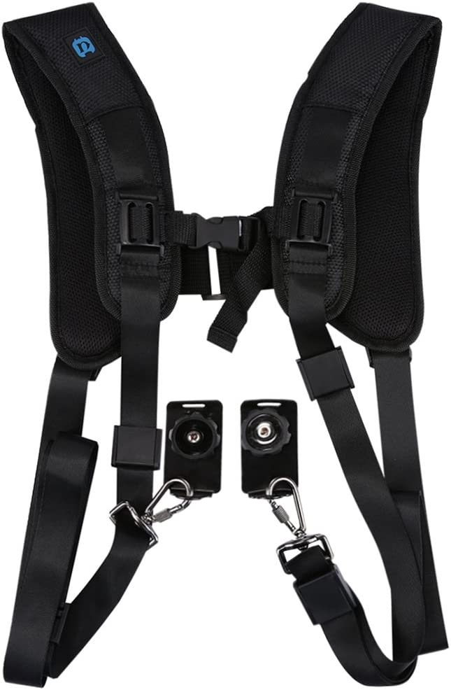 Double Shoulder Belt Harness Soft Foam Padded Decompression for Canon Camera