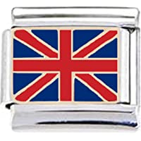 Stylysh Charms UK United Kingdom British Flag Enamel Italian 9mm Charm PE036 Fits Nomination Classic