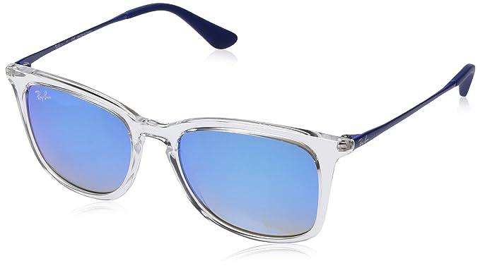 RAYBAN JUNIOR Unisex-Kinder Sonnenbrille Izzy, Transparent (Transparent/Browngradientdarkbrownmirr), 50