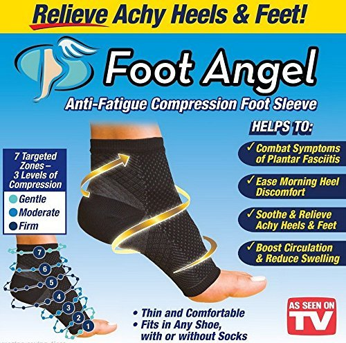 Foot Angel Anti Fatigue Foot Compression Sleeve (1 sleeve per pkg)