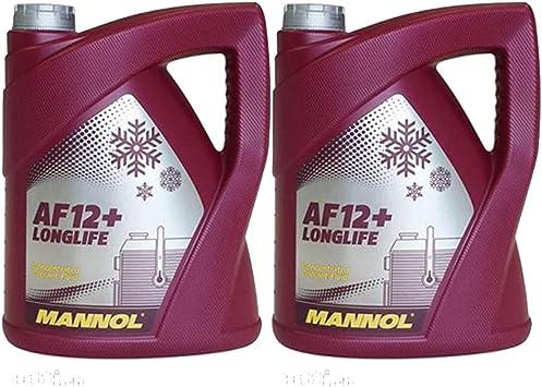 Mannol 2 X 5l Longlife Antifreeze Af12 Kühlerfrostschutz Konzentrat G12 Rot Auto