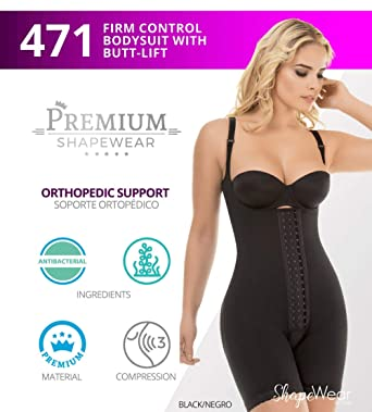 cfba1048f9a9b Just Us Store Post Surgery Postpartum Tummy Tuck 3 Adjustable Row Hooks  Shaper at Amazon Women s Clothing store