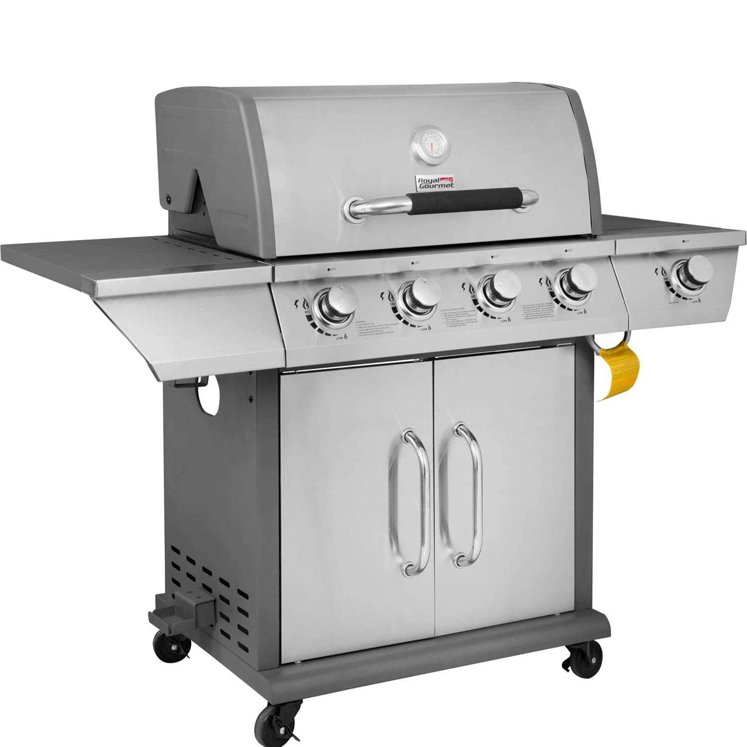 Royal Gourmet GG4302S 4 Propane Gas Grill with Side Burner, 57,000BTU, Stainless Steel by Royal Gourmet
