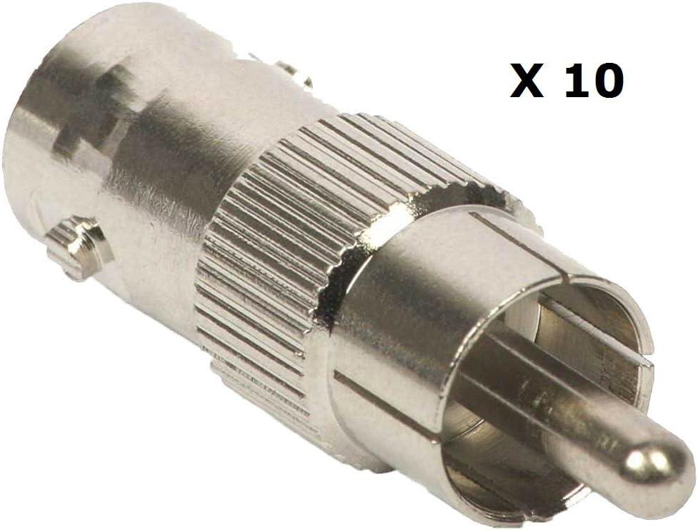 BW Lot de 100 connecteurs BNC m/âles /à sertir