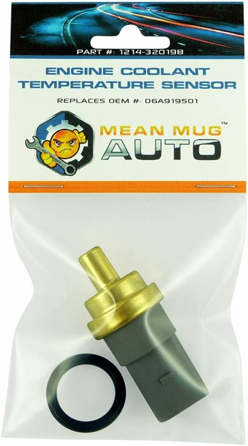 Mean Mug Auto 1214-32019B Engine Coolant Temperature Sensor With O-Ring - Compatible with Audi, Volkswagen - Replaces OEM #: 06A919501