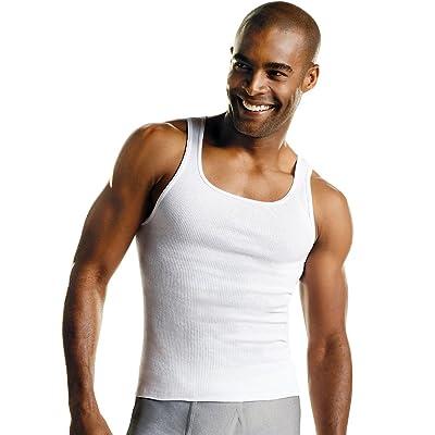 Hanes Mens MRL White A-Shirt P10 (372P10) at Amazon Men's Clothing store