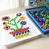 EocuSun Brain Intelligence 350 Pcs Colorful DIY Mushroom Nail Baby Kids Play Toys Set Educational Insights Design Enlightenment Educational Toys for Kids