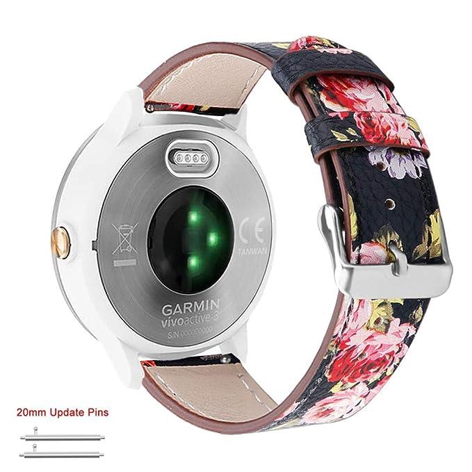 Abanen para Garmin Vivoactive 3/Forerunner 245/645 Correa de Reloj ...