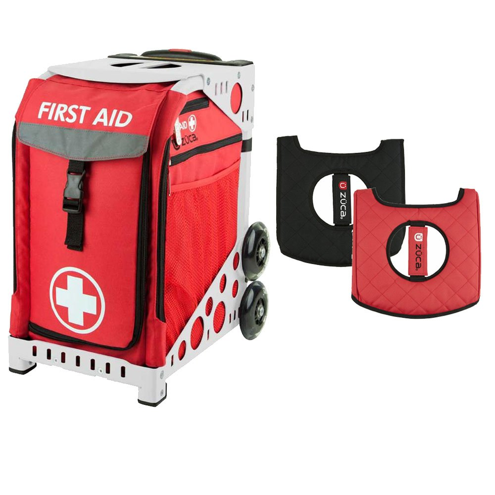 Zuca ''First Aid'' Sport Insert Bag and Red Frame, with Gift Seat Cushion by ZUCA