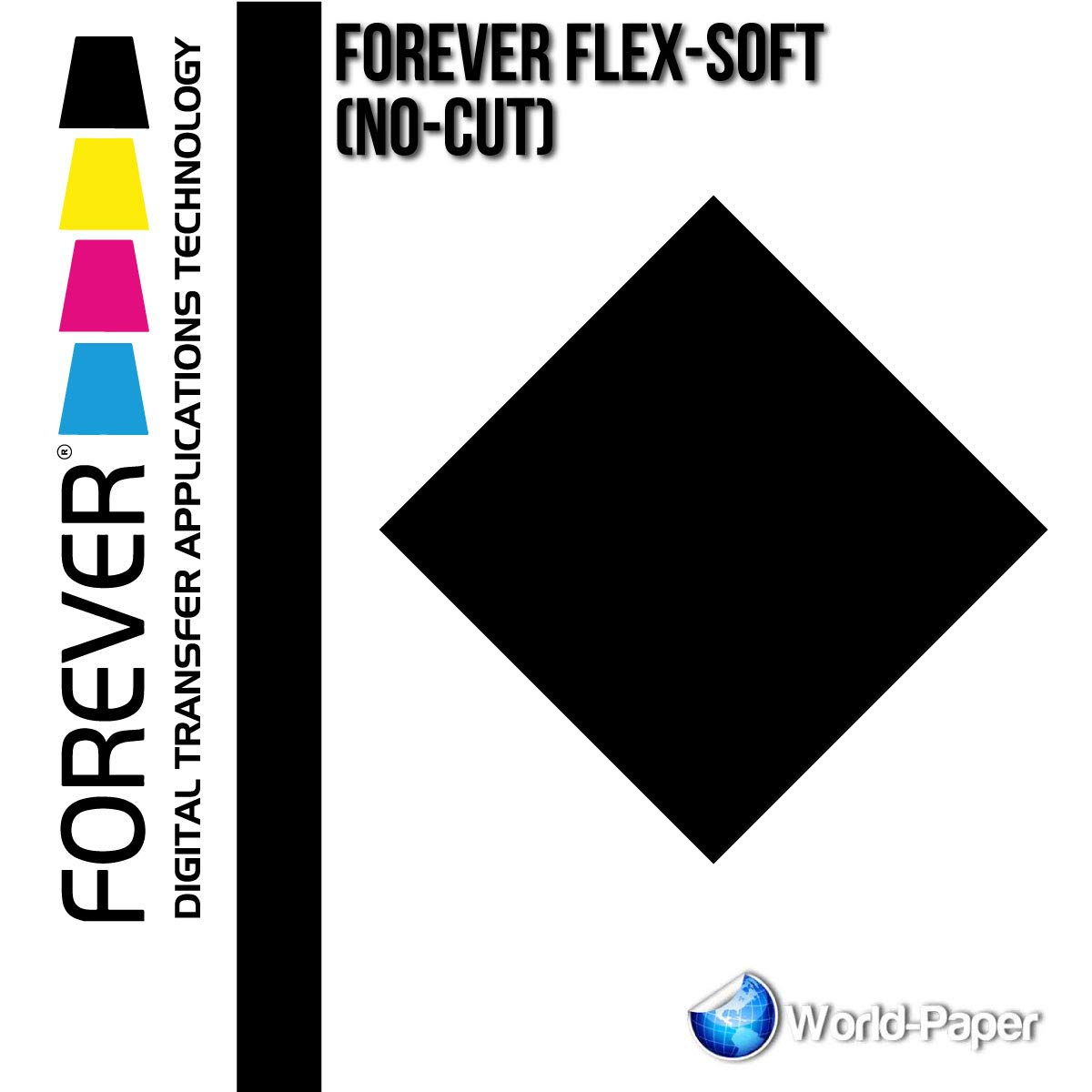 Forever Flex-Soft (No-Cut) Laser/LED Heat Transfer Paper 10 Sheets 8.5''x11'' 11''x17'' (11''x17'', Black)