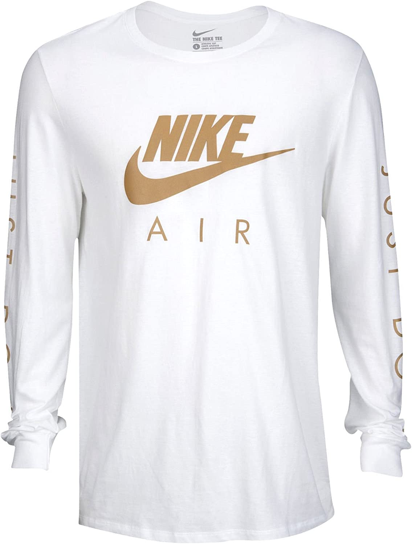 Nike Air Max Logo Chemise à Manches Longues pour Homme Blanc