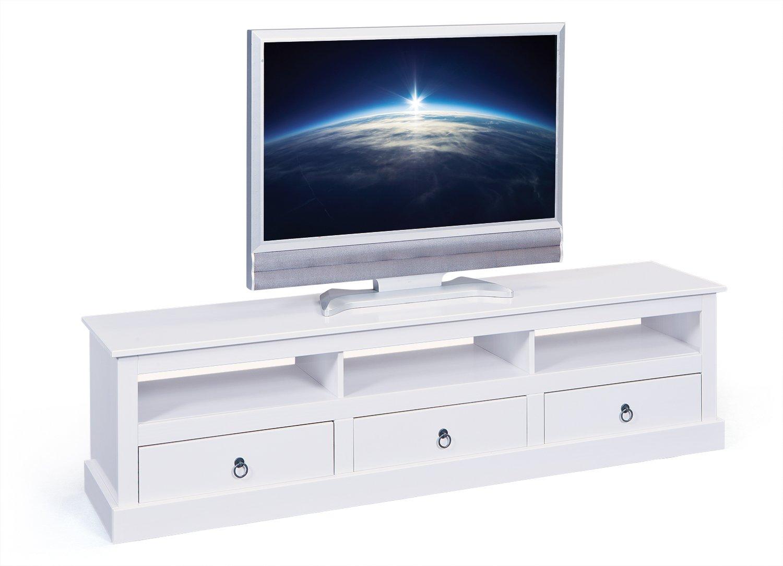 Inter Link Link Link Maritim Style Move 20901530 TV Tisch weiß TV Board Hifi Regal Schrank Media Rack Center massiv Landhaus NEU be01b3