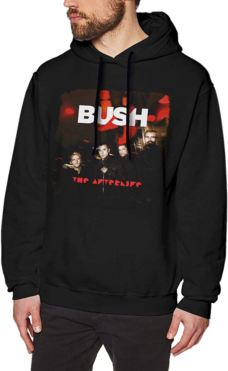 Ysahcj Bush The Afterlife Mens Hoodie Sweatshirt Black