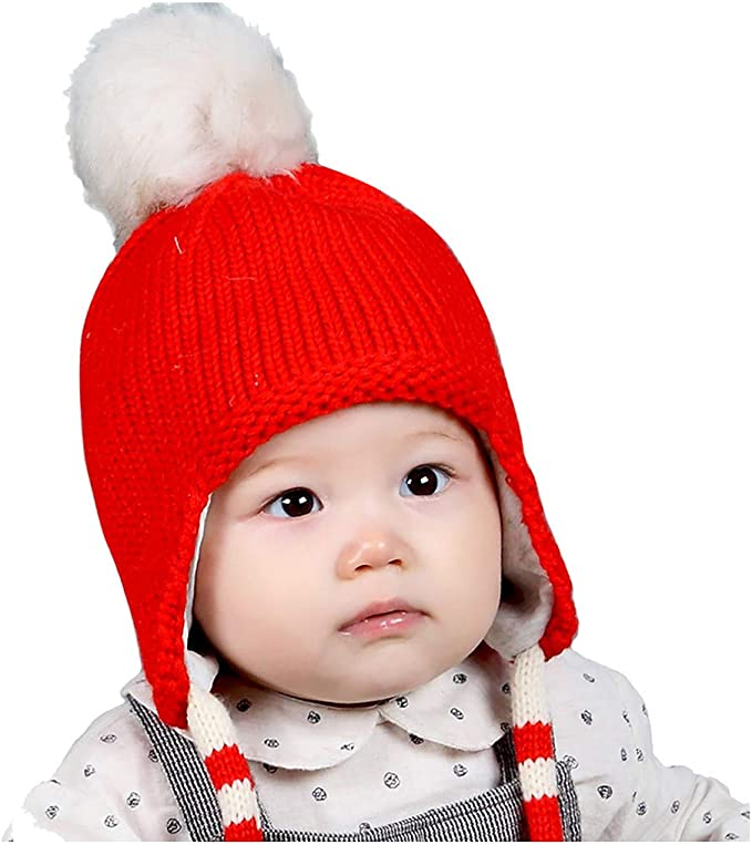 TWIFER Sombrero de Orejera de Bebé de Invierno Sombreros de Punto ...