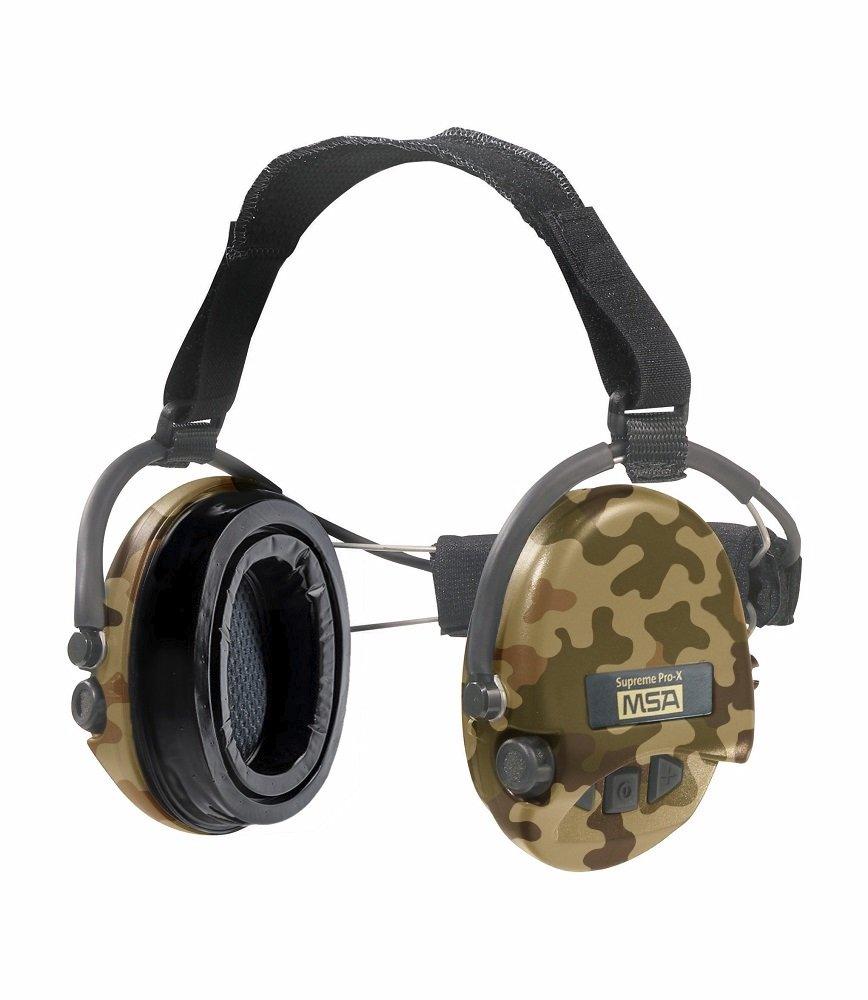MSA Sordin Supreme Pro X - Neckband - CAMO Edition - Electronic Earmuff, slim-design (gel-seals)
