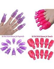 Goodup 20 piezas de acrílico uñas de los pies Nail Art Soak Off Clip Cap UV