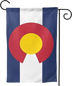 ainidamiss Colorado Co Double Sided Garden Flag, Premium Material, Outdoor Decorative Small Flags for Home House Garden Yard Lawn Patio, 12.5 x 18.5 inc