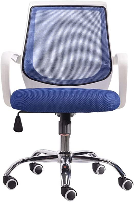 Grey Office Chair High Back Desk Chair Adjustable Swivel Gaming ...