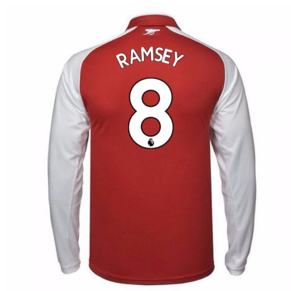 2017-18 Arsenal Home Long Sleeve Shirt (Ramsey 8) B077PJYV4CRed XXXL Adults