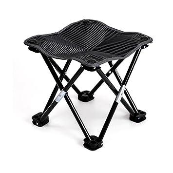 Taburete plegable para acampada, sillas ligeras, estructura ...