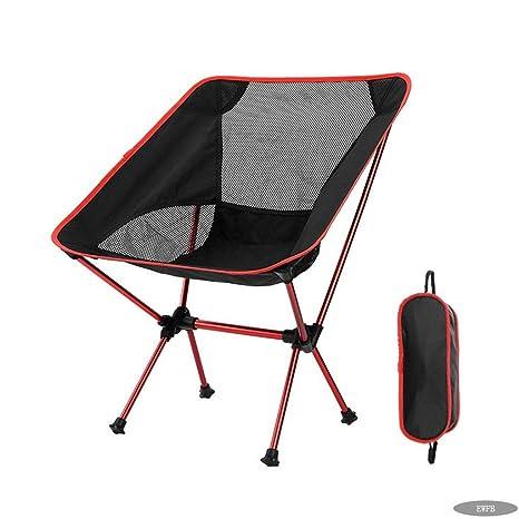 Silla Plegable EWFB Silla de Camping de Tela Oxford Fácil de ...