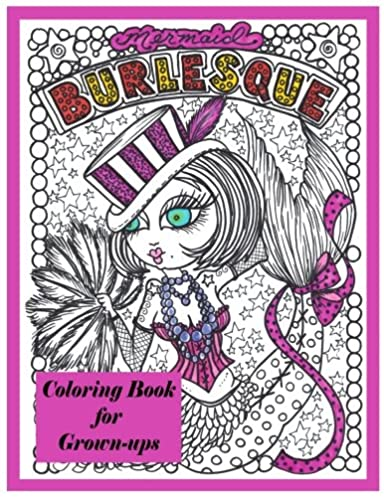 Burlesque Mermaids Coloring Book