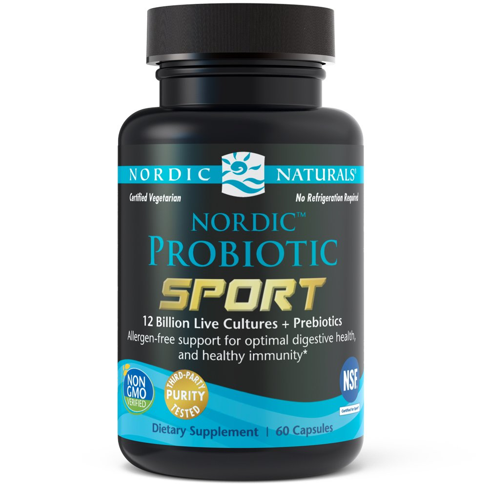 Nordic Naturals - Nordic Probiotic Sport, Support for Optimal Digestive Health, and Healthy Immunity, 60 Soft Gels