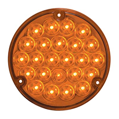 GG Grand General 87585 4 Inches Pearl Led Light w/ #1157 Bulb Base, Amber Lens: Automotive