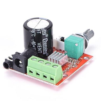 MagiDeal 12V Hi-Fi PAM8610 Alta Fidelidad Placa Amplificador Estéreo Audio 2x10w Doble Canal D