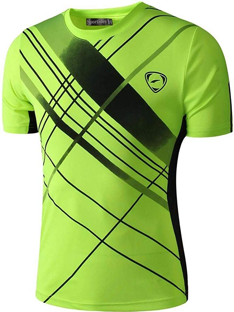 Sportides Boys Quick Dry Active Sport Short Sleeve Breathable T-Shirt Casual Tee Top LBS701