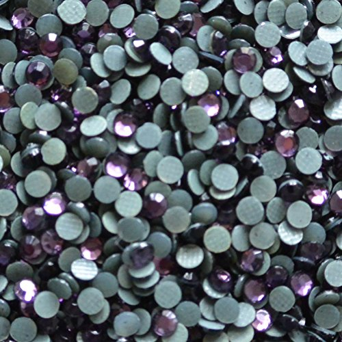 (5mm (20ss) Hot Fix Korean Rhinestones 10 Gross Approx 1440 Stones by Weight (Tanzanite Purple))