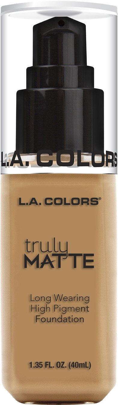 L.A. COLORS Truly Matte Foundation, Warm Honey, 1 Ounce