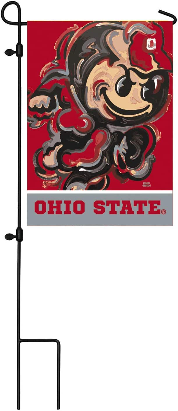 Team Sports America NCAA Ohio State University Suede Garden Flags