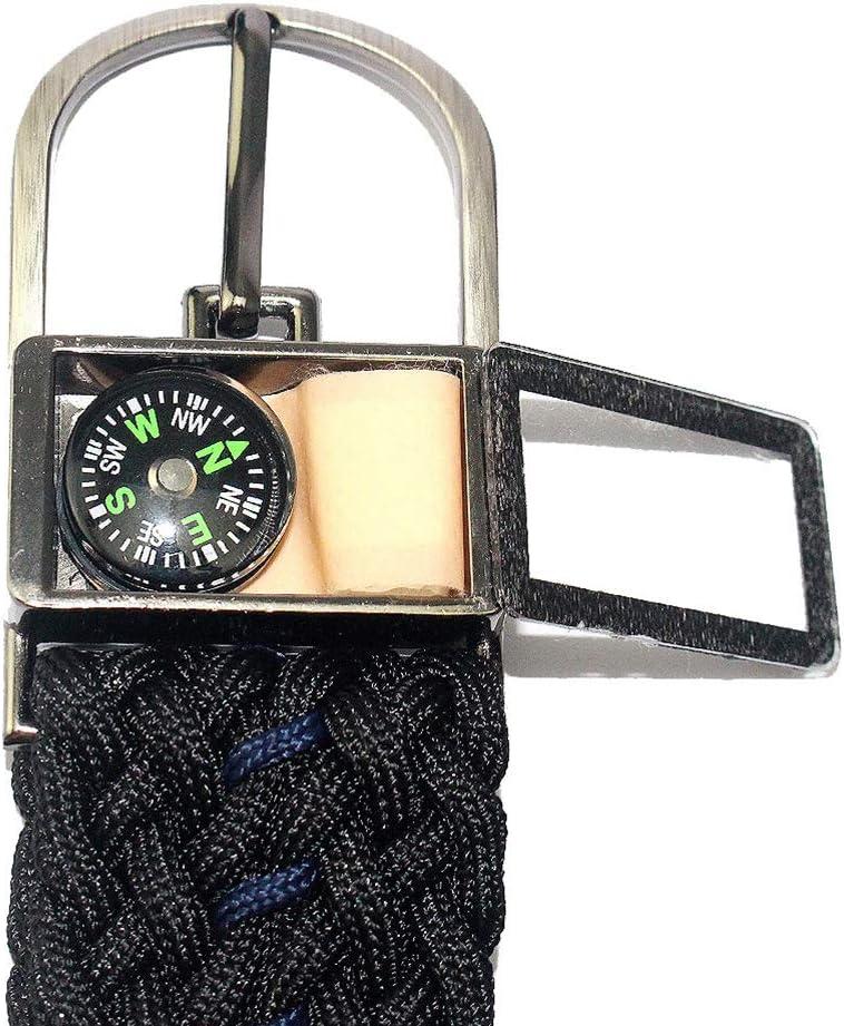 accesorios de supervivencia al aire libre cintur/ón ajustable para acampar senderismo canotaje Cinturones de Paracord hechos a mano Cinturones con metal hebilla para hombres 550 libras