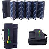 SUNKINGDOM Chargeur Solaire Portable 60W 2-Port Batterie solaire pliable pour iPhone SE / 6 / 6 Plus, iPad Air 2 / mini 3, Galaxy S6 / S6 Edge et bien d'autres