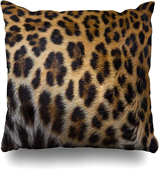 Wayato Pillow Case Cotton Polyester Blend Throw Pillow Covers Close Up Of A Beautiful Leopard Skin Background Bed Home Decor Cushion Cover 18x18 Inch Amazon Ca Home Kitchen
