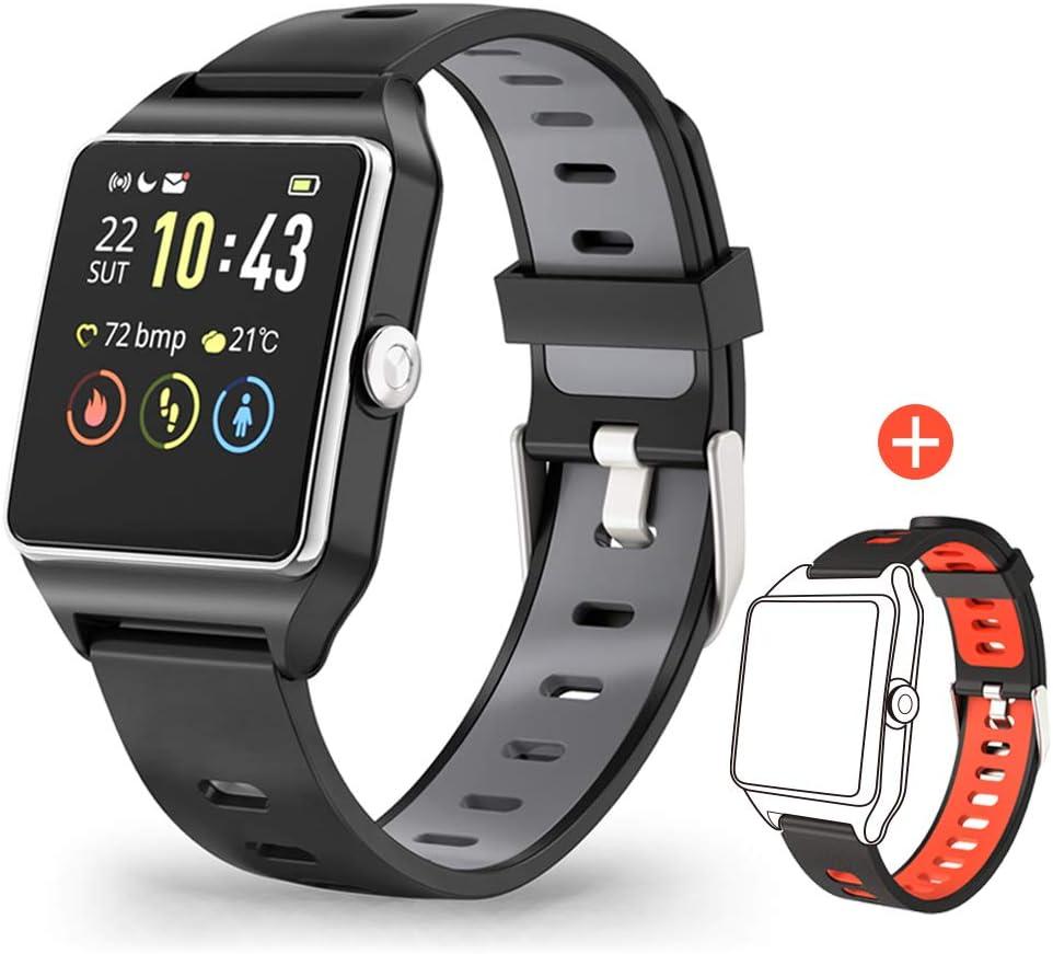 Smartwatch GPS Sportuhr, Fitness Armbanduhr 1,3 Zoll Touchscreen Laufuhr