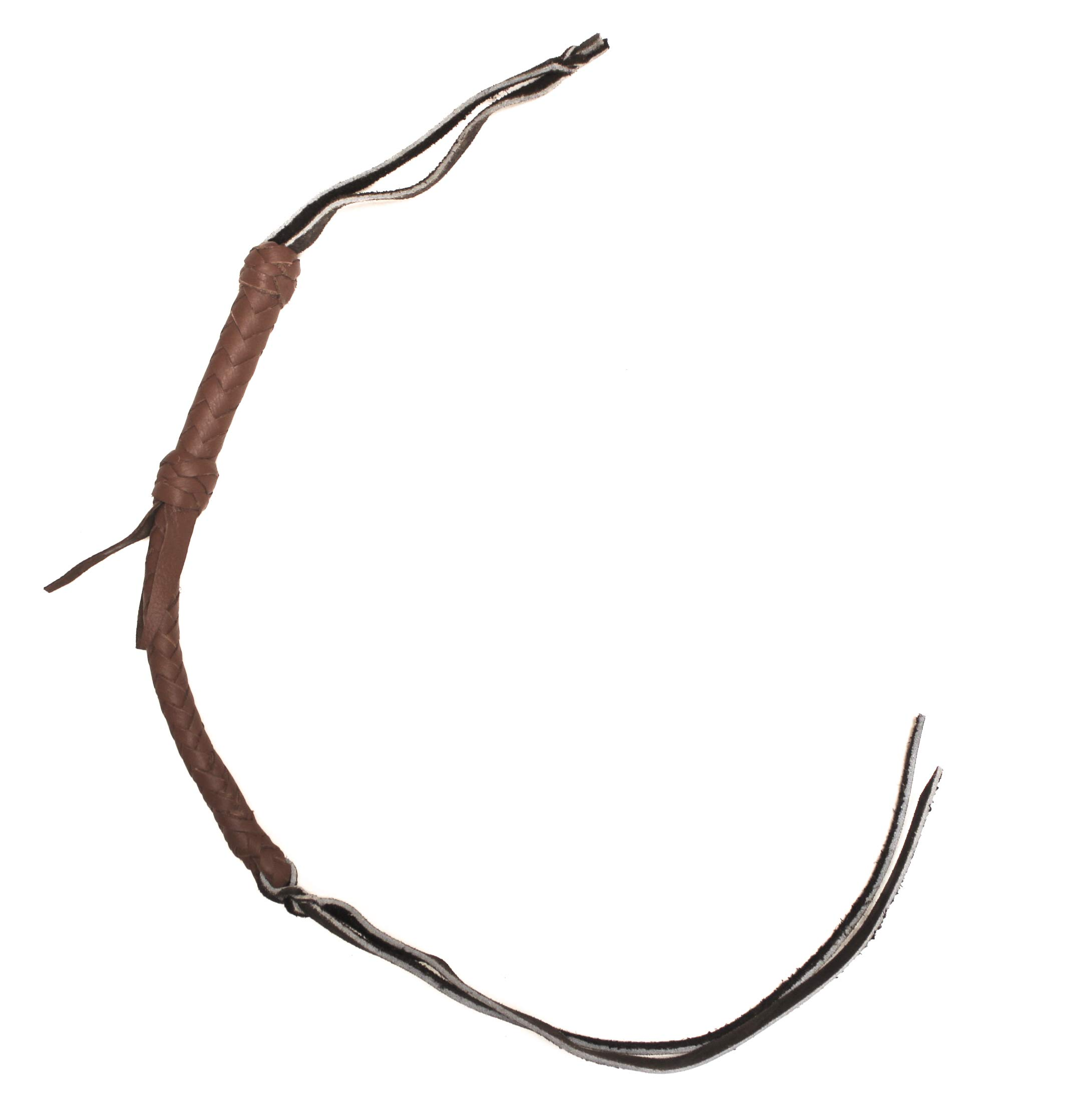 mroyalsaddles.com Western Leather Quirt Genuine Braided Quirt Whip