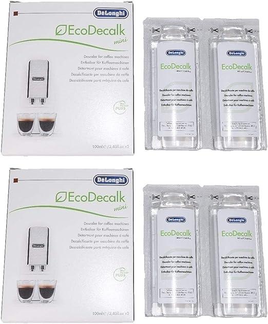 Delonghi entkalker - Descalcificador para cafeteras (4 botellas de 100 ml): Amazon.es: Hogar