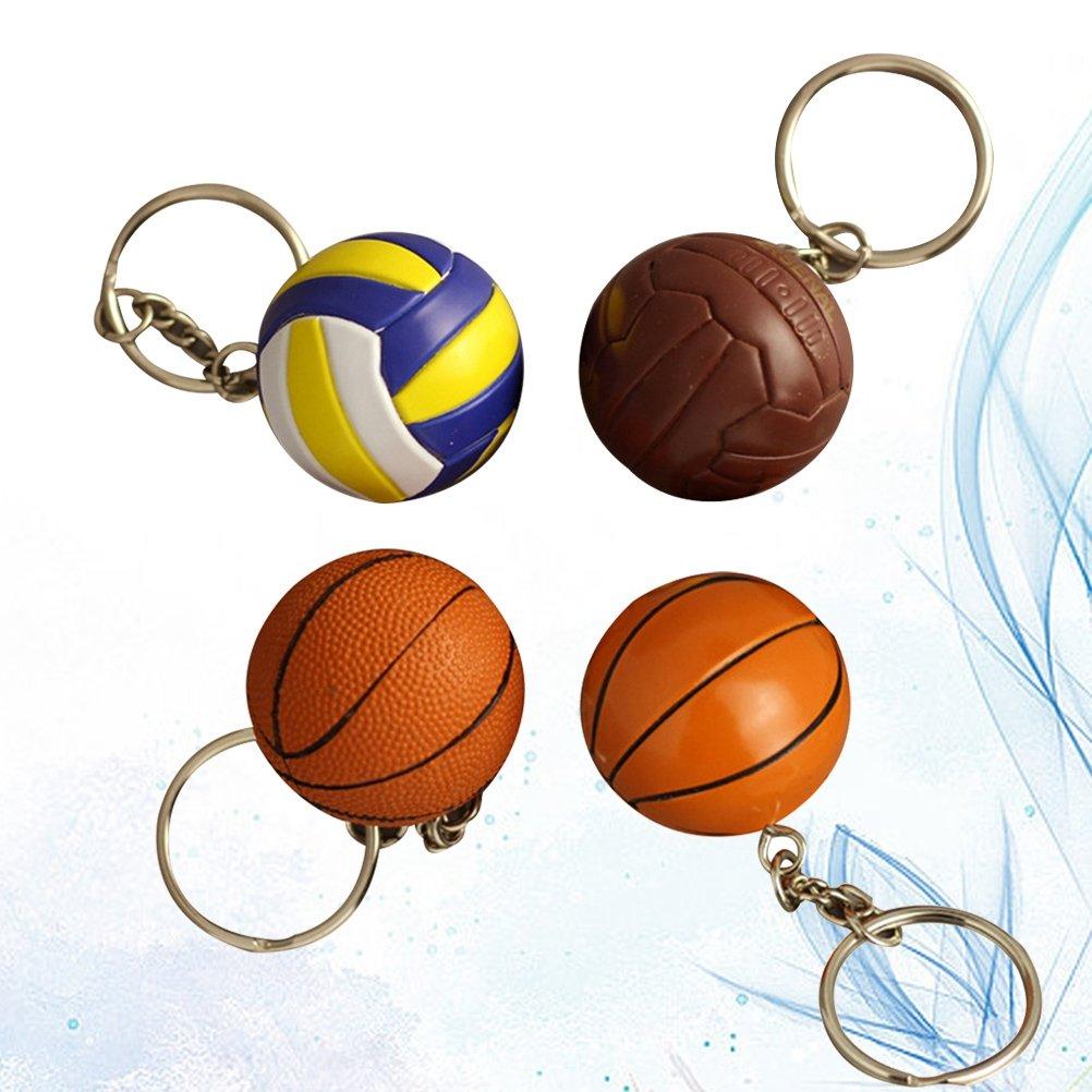 YeahiBaby 4 Unids 4 CM Baloncesto Estimulado Llavero ...