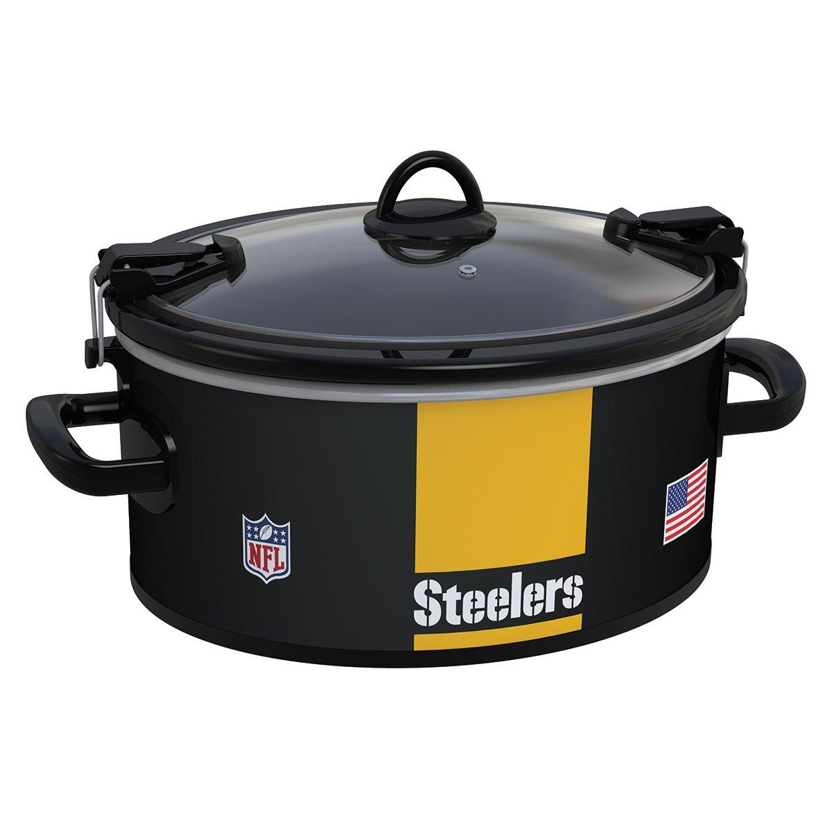 61ZQBNtk9zL._SL1200_ amazon com crock pot pittsburgh steelers nfl 6 quart cook & carry