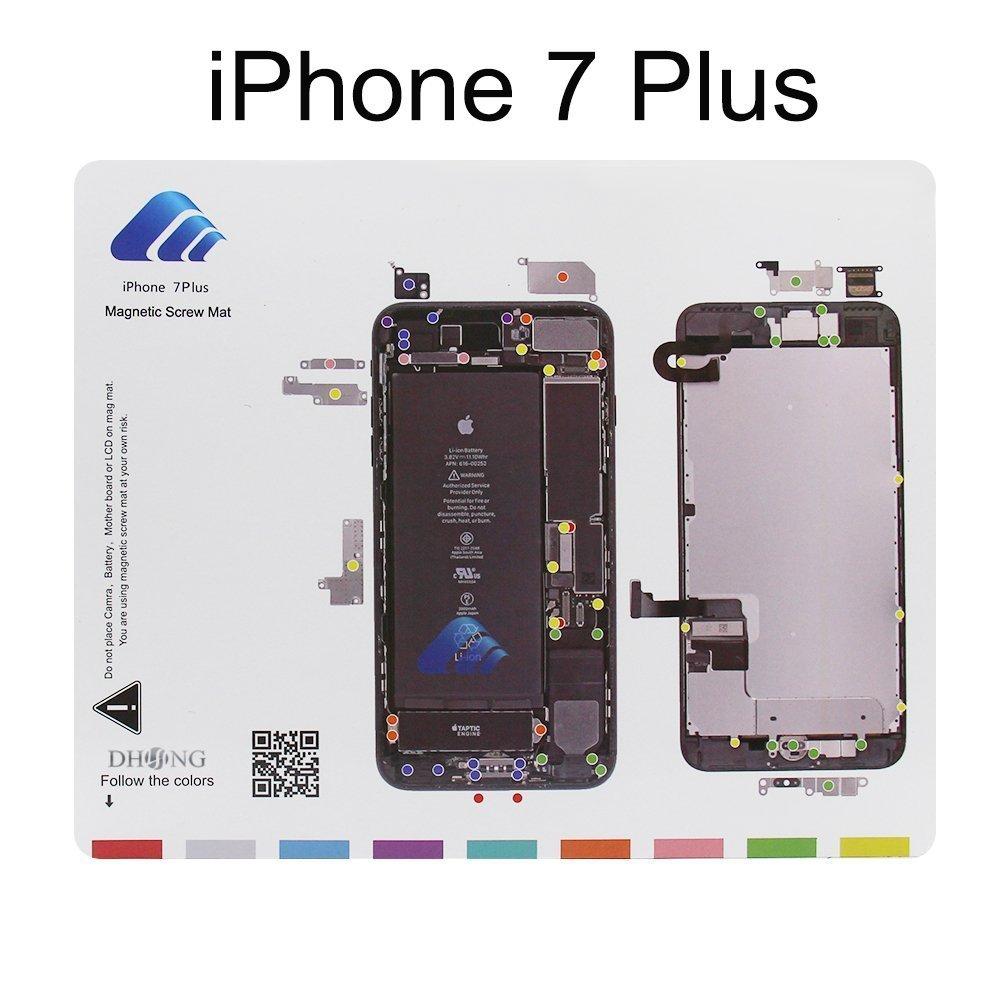 DHong Design Magnetic Project Mat for iPhone 6 6s Plus 5s   5c   5   4s   4  Screw Mat Repair Guide Pad Screw Keeper Chart Map Professional Guide Pad  Repair ... 3dc8cd7acf