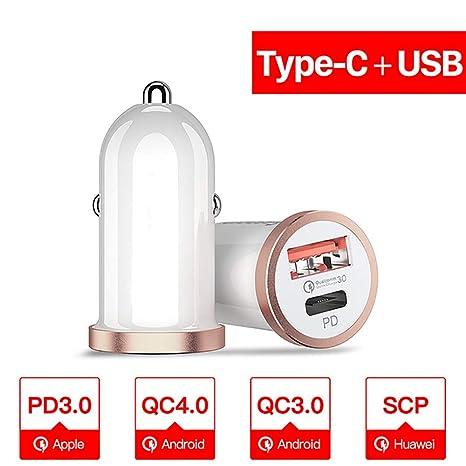 Amazon.com: WHQ Cargador de coche USB de carga rápida 4.0 ...