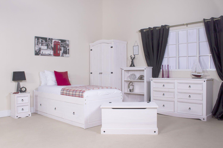 Wonderful Corona White Pine 3+3 Drawer Wide Chest Corona Whitewash Furniture:  Amazon.co.uk: Kitchen U0026 Home