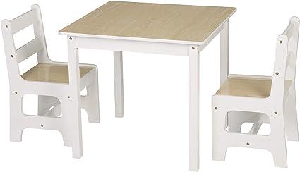 Woltu Sg005 Tavolo E Sedie Per Bambini Soggiorno Tavolino Con 2 Sgabelli Set Mobili In Legno Amazon It Casa E Cucina
