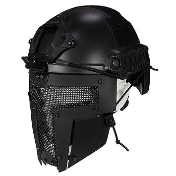 QZY Spartan Diseño Máscara Completa, Casco Rápido Táctico para Airsoft/Paintball / Pistola BB
