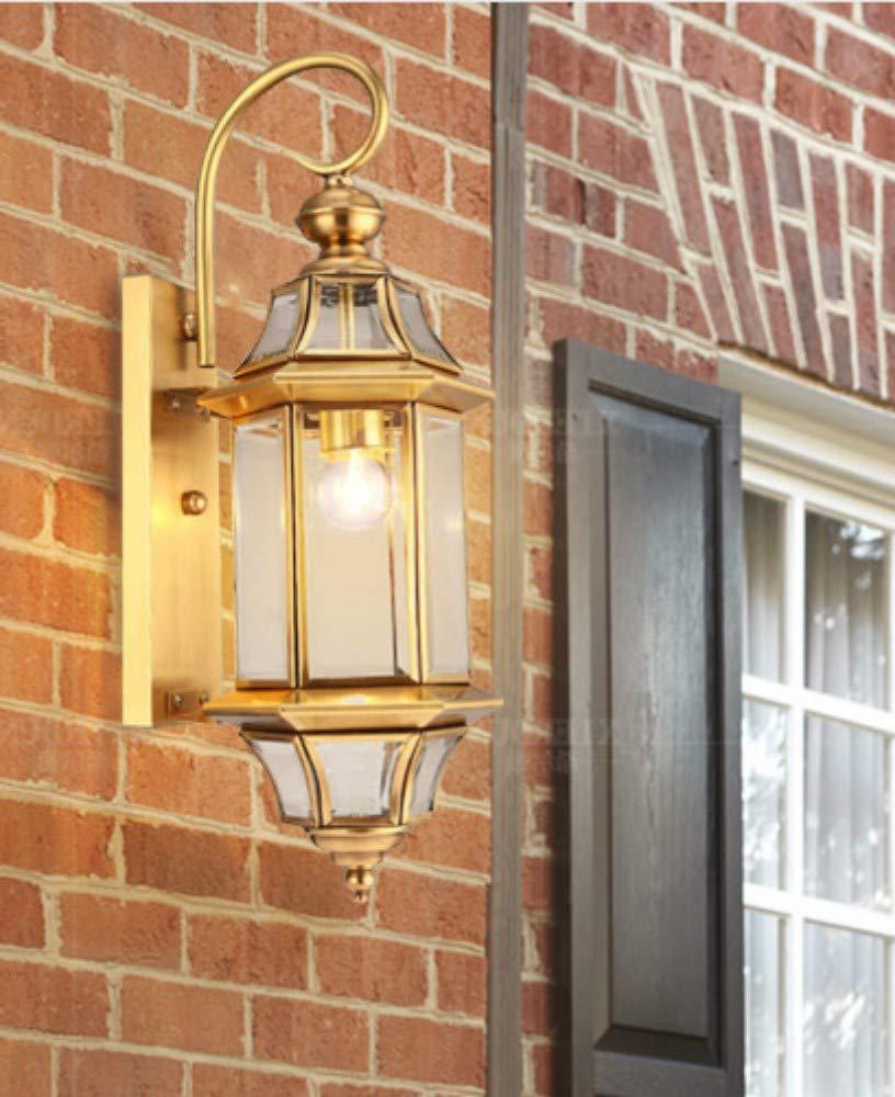 Xiadsk Outdoor LED Messing Wandleuchte Wasserdicht Amerikanischen LED Design Glas Vorhang Wandleuchte Garten Korridor Gang Balkon Lichter